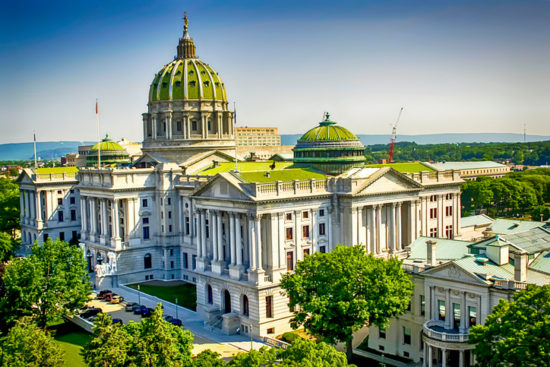 The PA State Capitol